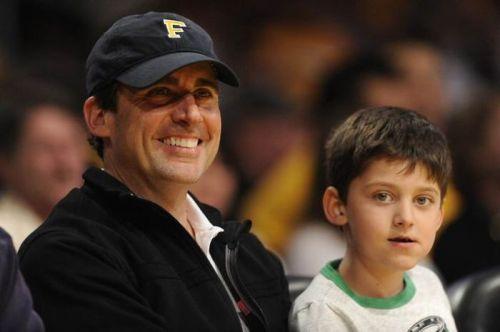 استیو کرل و پسرش جان